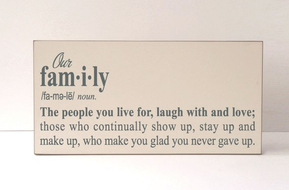 Our Family Wood Sign Family Definition SignWood Plaque