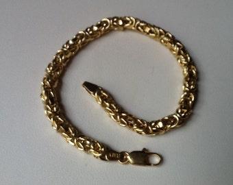 Byzantine Bracelet 14k Yellow Gold Beautiful Fine Jewelry Gift SALE