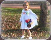 Thanksgiving Turkey Dress - Girls Personalized Funky Turkey