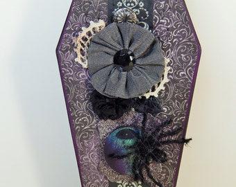 Purple Mourning Coffin Box