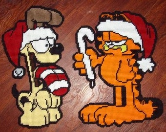 Not Again Garfield Set Plastic Canvas Pattern