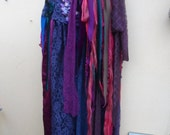 "20% OFF SALEgothic inspired extra shabby wrap skirt/shawl...a work of art 50"" across plus ties."