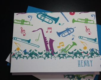 Making music Note Cards