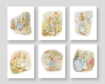 Peter Rabbit CANVAS ART Nursery Decor Beatrix Potter Baby Boy Girl Storybook Bedroom Bath Shower Tale Playroom Decor by YassisPlace (PR-001)