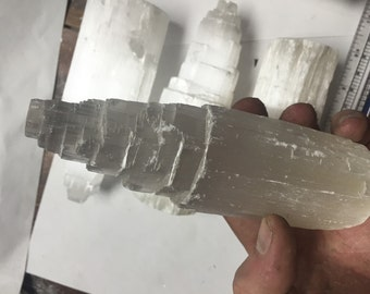 """Large 6"""" Selenite Tower Crystals"""