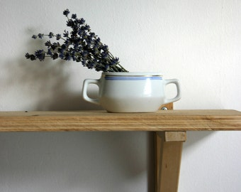 Vintage Boho China Porcelain Cup Vase ASHTRAY Bowl White Korea 1960s