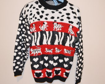 Vintage Sweater Puppies, Kittens and Bears