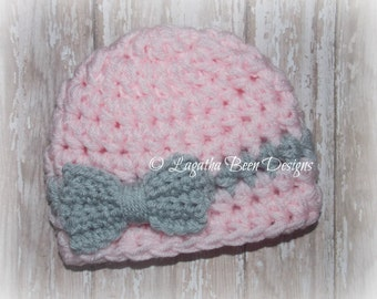 Chunky baby hat for girls - photo prop - bringing baby home - made to order