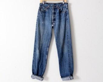 vintage 501xx Levi's denim jeans, Levis 501 jeans 32 x 34