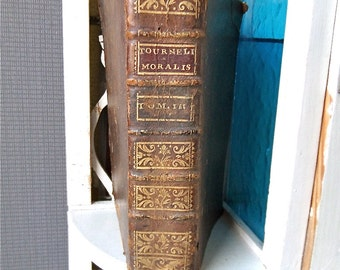 French antique Theological  Religion book  dated 1745