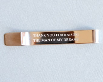 Personalized Tie Clip  Hidden Message Tie Clip - Father of the Bride and Groom - Custom Groomsmen Gift - Dad or Grandpa - Wedding Gift
