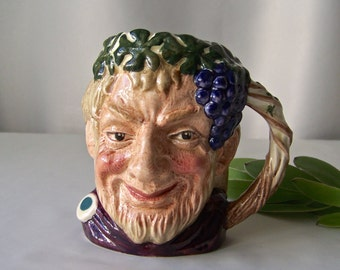 Vintage Royal Doulton Bacchus Character Mug D-6505 Vintage 1958 Lord Of The Wine