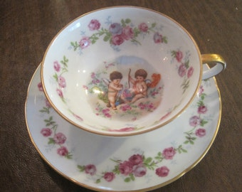 Cherubs Cup and Saucer made in Germany