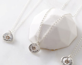 Silver and Rose Gold 'Meditate' Necklace
