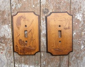 Vintage Wooden Switch Plates