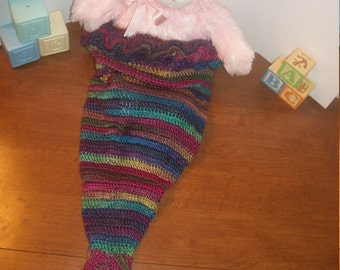 Crochet Cocoon Mermaid Tail (A34)
