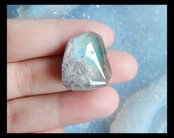 Ghost Quartz  Cabochon,21x18x11mm,6.21g