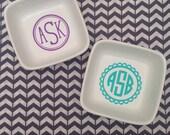 Monogrammed Trinket Tray / Jewelry Dish