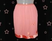 Vintage Mini Half Slip - 1960s Butterfly Micro Mini - LAVISH Nylon Tricot - For Mod Dresses