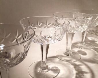 4 Cut Webb Corbett Crystal Coupes