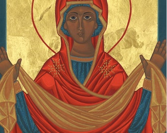 Mary Mother of Mercy Icon