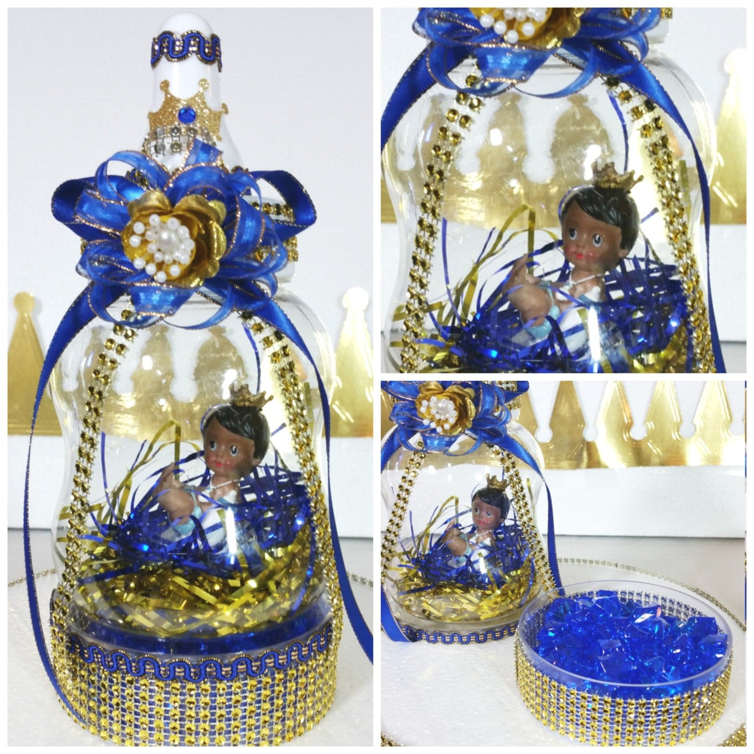 Royal Prince Baby Shower Centerpiece & Candy Tray For Baby
