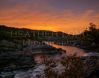 Great Falls - Nature Photography, Wall Art Prints, Fine art photography print, Limited Edition