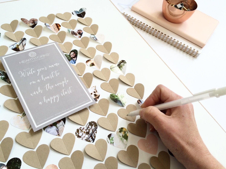 Wedding Guest Book Ideas 3d Heart Guest Book Frame Photo