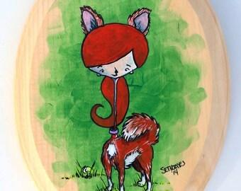 Goldie - Original Acrylic Painting