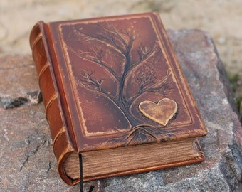 Wedding Guest Book Extra thick leather book tree of life family chronicles anniversary gift