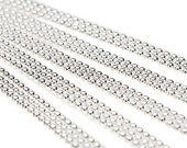 """25 BALL CHAIN Necklaces 18"""" Sterling Silver Plated H546"""
