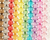 10 Clear Faceted Beads 20mm Chunky Beads Transparent