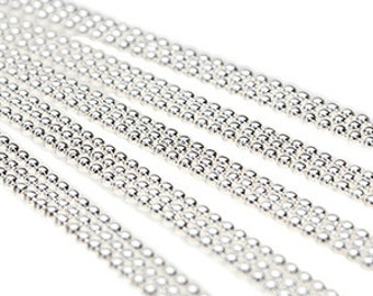 """5 BALL CHAIN Necklaces 18"""" Sterling Silver Plated H750"""