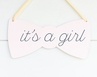 It's a Girl Baby Announcement Sign, Sign for Baby Shower Decor, Baby Gender Reveal Party Decorations, Hospital Door Sign, Gift for New Mom