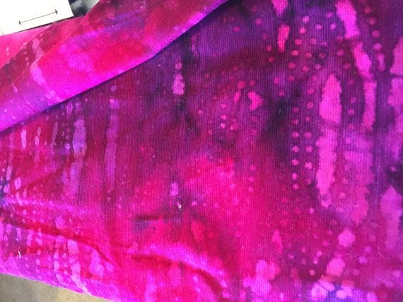 Corduroy Batik Purple Fabric (per yard)