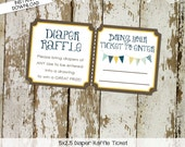 Diaper raffle ticket INSTANT DOWNLOAD item 1240 insert enclosure card diaper shower