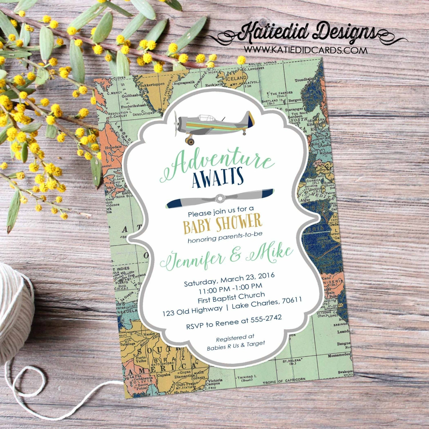Travel Themed Invitation oh the places you ll go baby shower