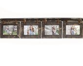 Barnwood Collage Picture Frame. 4 hole 4x6 Multi Opening Frame. Rustic Picture Frame.Collage Photo Frame. Wood Picture Frame.
