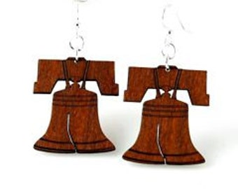 Liberty Bells - Laser Cut from Reforested Wood - Made in USA