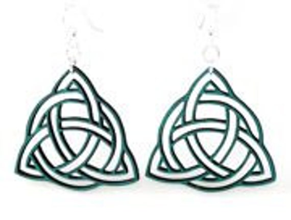 Trinity Knot - Laser Cut Wood Earrings
