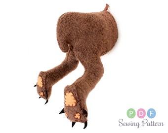 Medium deer moose sewing pattern diy felt reindeer by aicreatures - Fake stuffed moose head ...