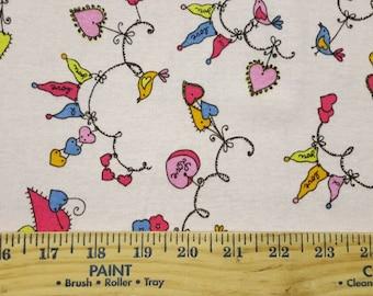 Whimsy Line Hearts Cotton Baby Rib