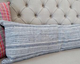 12x35, Pillow case, Vintage Hmong Hemp cushion cover, Handwoven Hemp Fabric,Scatter cushions,