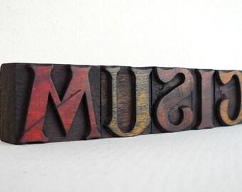 MUSIC - 5 Vintage Letterpress Alphabets Collection -LP46