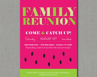 Watermelon Family Reunion / Picnic Invitation