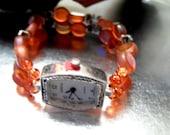 Watch Band Stretch Orange Glass