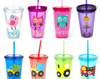 SALE! Personalized Acrylic Tumbler, Kids Personalized Tumbler, Teacher Tumbler- Great Kids Party Favor