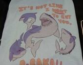 Tsundere Shark Anime Manga Fandom Humor T-shirt