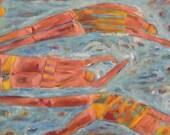 """Splash 30""""x24""""X1.5""""Original Acrylic Painting Free Shipping"""