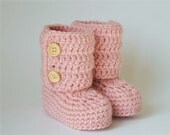 Baby Ankle Boots -Crochet Baby Booties- baby shower-gift